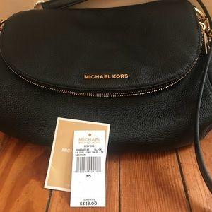 Michael Kors black Leather tassel crossbody